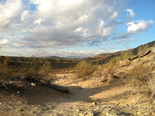 A sandy trail on South Mountain, Phoenix, Arizona