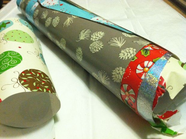 Rolls of wrapping paper in various patterns