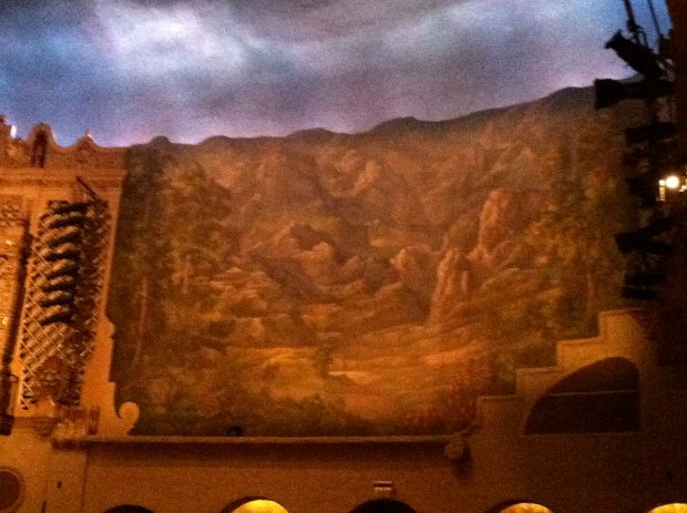 Mural of a desert scene in the Phoenix Orpheum Theatre