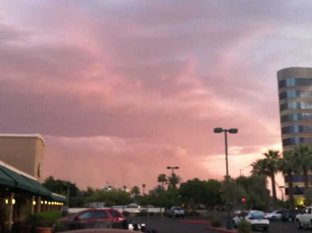 Haboob over north central Phoenix