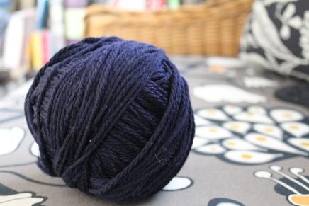Ball of navy yarn