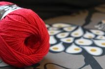 Red Lily Sugar n' Creme yarn