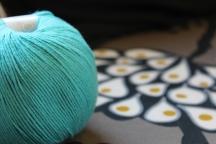 Universal Yarn Bamboo Pop aqua yarn