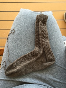 Katherine Hepburn Fancy Trouser Sock in brown