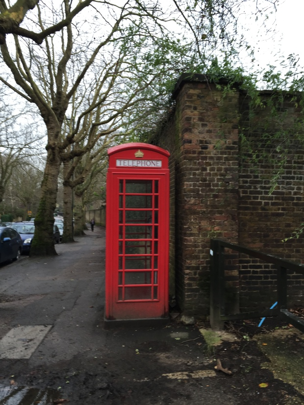 Red telephone booth, London