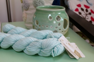 Blue Sky Fibers Skinny Cotton in pale blue