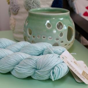 Blue Sky Fibers Skinny Cotton in pale blue