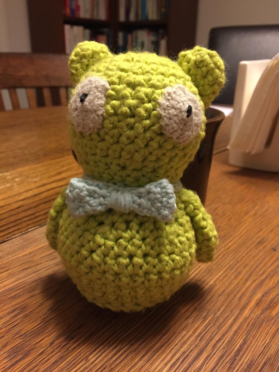 Crocheted Kuchi Kopi rattle